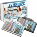 JK-8031U6X-21 - Glancetron Keyboard 8031, num., MSR, RS232, PS/2, kit, black